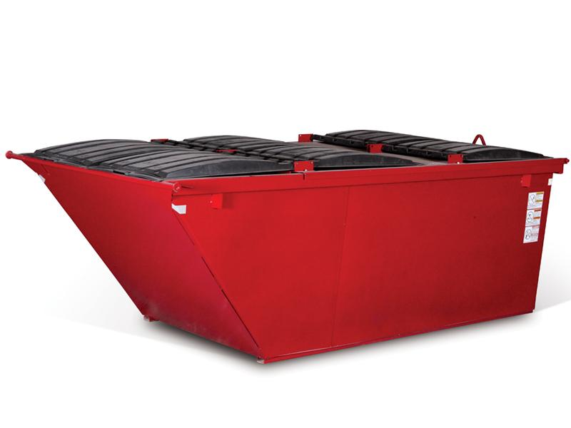 Wastequip Slope Front Rear Load Dumpsters without Casters