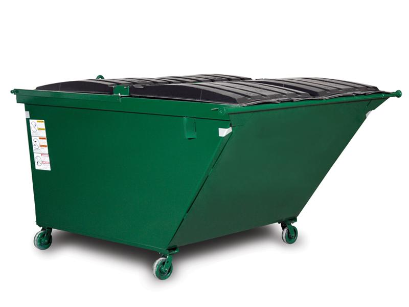 Wastequip Slope Front Rear Load Dumpsters with Casters